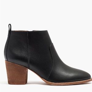 Madewell Size 10 The Brenner Black Leather Bootie